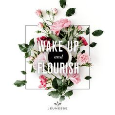 Wake up and flourish.