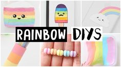 6 AMAZING RAINBOW DIYS! Easy & Cute Ideas!