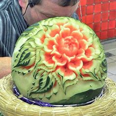 Sculptured watermelon