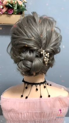 Hairstyle Tutorial Natural hair updo Hair Updo Easy, Short Hair Updo Tutorial, Short Curly Hair Updo, Bridal Hair Tutorial, Wedding Hairstyles Tutorial, Easy Hairstyles For Long Hair, Fancy Hairstyles, Hair Up Styles, Medium Hair Styles