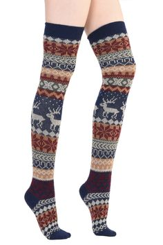 I WANT THESE SO BAD!!!!!!   Christmas Over the Knee Socks