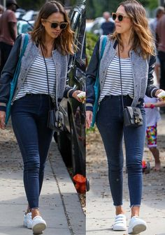Jessica Alba takes her daughters Honor and Haven to a park in Beverly Hills on April 3, 2016