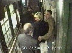 Dodi Fayed Autopsy Report | Princess Diana (C) and Dodi al-Fayed (R) wait at the rear service exit ...