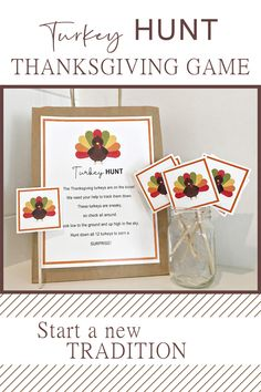 Turkey Hunt Thanksgiving Game Printable DIGITAL DOWNLOAD | Etsy