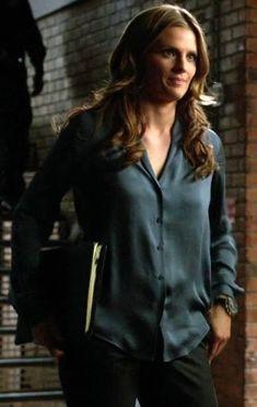 Castle Beckett, Castle Tv, Castle Season 6, Richard Castle, Stana Katic, Movie Stars, Cool Style, Tv Shows, Leather Jacket