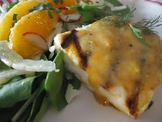 Saucy Mama Tarragon Citrus Mustard Halibut - from Cultural Construct (low-calorie) #SkinnyMama. Visit www.barhyte.com