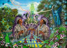 Ayahuasca-Inspired Art by Juan Carlos Taminchi Art Visionnaire, Sacred Plant, Meditation, Conscience, Visionary Art, Medicinal Plants, Psychedelic Art, Online Art Gallery, Spirituality