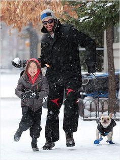 Hot dad alert: Hugh Jackman enjoying a snowball fight with his daughter. http://www.ivillage.com/hot-celebrity-husbands-0/6-a-527999#
