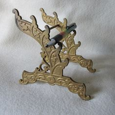 SOLD...Antique 19thC Cast Iron, Dip, Fountain Pen Stand, Display