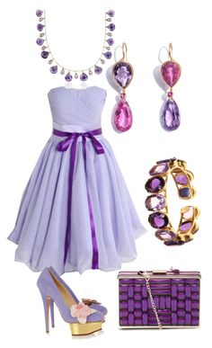 """Lilac Inspired"" by anesbitt09 ❤ liked on Polyvore featuring Marie Hélène de Taillac, Blue Nile, Bounkit, Charlotte Olympia, women's clothing, women, female, woman, misses and juniors"