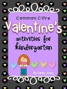 Valentine's activities for Kindergarten with ELA & Math CCSS!  Emergent readers, centers & lots of materials! $