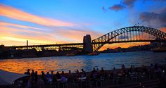 Sydney Harbor Bridge@ sunset, via Flickr.