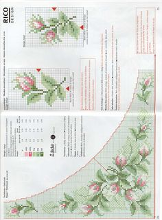 This Pin was discovered by naz Cross Stitch Numbers, Cute Cross Stitch, Cross Stitch Rose, Cross Stitch Flowers, Cross Stitch Charts, Cross Stitch Designs, Cross Stitch Patterns, Rose Embroidery, Embroidery Patterns Free