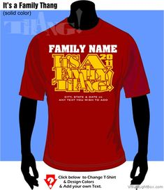 African American Family Reunion Shirts | Family Thang full color --- Customize NOW! ---