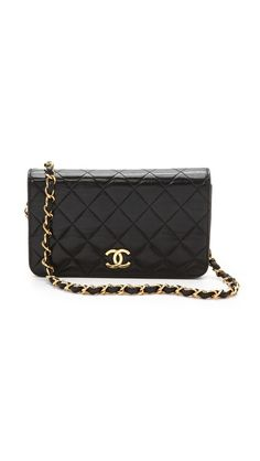 Wgaca Vintage Chanel Flap Cross Body Bag Zoe Hart Black