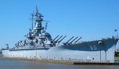 """The USS Alabama, one of four South Dakota class battleships, made by the Americans in WW2. Armed with nine 16 inch naval guns, and """"better protected"""" than the proceeding North Carolina class; the South Dakota class were a """"stepping stone"""" to that of the four Iowa class. Many have said, that the South Dakota class were the """"ultimate treaty battleships"""", as they """"packed a powerful punch"""", on a """"treaty restricted"""" displacement. Alabama, one of my favourite American battleships; known as """"Lucky…"""