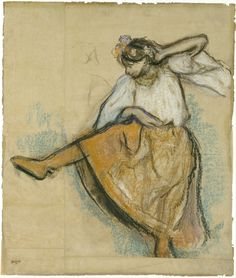 Edgar Degas (French, 1834-1917), The Russian Dancer, 1895. Pastel, charcoal on joined paper laid down on board, 66.52 x 56.21 cm (26.19 x 22.13 in).