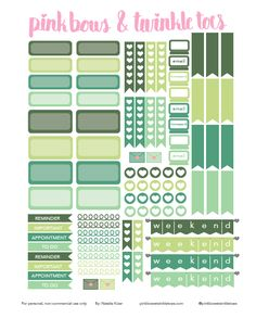 FREE March Functional Planner Stickers: Free Printable