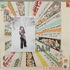 Just love this layout, found on Emy's Crafty Blog