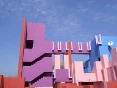 virtualgeometry:  La Muralla Roja (Red Wall). Housing Project in Calpe, Spain. Spanish architect Richardo Bofil.1968