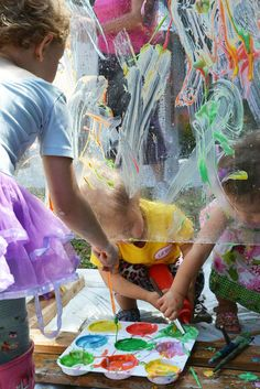 Plexiglass Painting with Yogurt Paint for Toddlers | Meri Cherry Blog