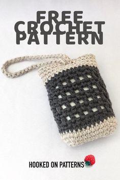 Crochet Home, Crochet Crafts, Crochet Yarn, Crochet Projects, Free Crochet, Crochet Flowers, Bag Pattern Free, Pouch Pattern, Diy Soap Holder