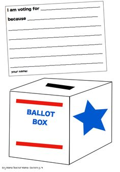 Free DIY Printable Voting Ballots for Kids | Free ...