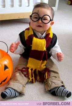 Harry Potter Baby Halloween Costume from Love and Lion. More Creative Baby Halloween Costume Ideas on Frugal Coupon Living.  sc 1 st  Pinterest & Your baby dresses better than I do: 35 super cute and funky baby ...