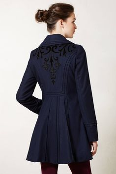 Karelia Coat - anthropologie.com love this style coat, like the detail on the back and that it comes in at the waist and then flairs also looks warm but i think it is sold out