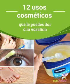 12 usos cosméticos que le puedes dar a la vaselina La vaselina o jalea de petróleo es un extracto natural que se utiliza desde la antigüedad con varios fines domésticos y estéticos.