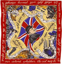 Churchill Jacqmar scarf from WWII