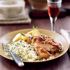 Chicken in Red Wine Vinegar | French main courses, from crispy Duck à l'Orange to a classic Bouillabaisse.