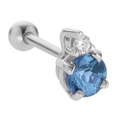 3.5mm Blue Topaz w/ Diamond 14K White Gold Cartilage Stud Earring FreshTrends. $107.93. This entire ring is Handcrafted in the USA. Crafted from Nickel-free Solid 14K Gold
