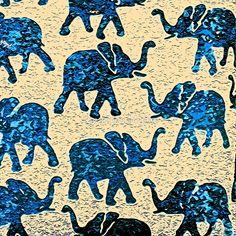 Elephant Walk Abstract     saundramylesart