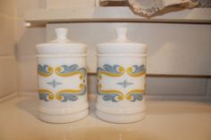 Milk Glass Apothecary Jars Rediplete Sharp by MabelStMiscellany, $25.00