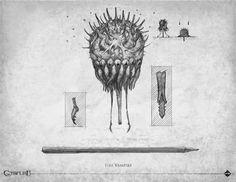 Loïc Muzy - artwork: bestiaire Call of Cthulhu 7th edition - Éditions Sans-détour - Chaosium Inc - 2014