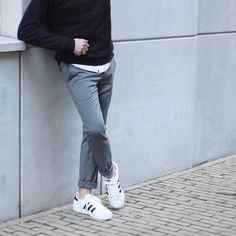 How To Wear Adidas Superstar Outfit Casual 65 Ideas For 2019 Tomboy Outfits, Tomboy Fashion, Adidas Fashion, Casual Outfits, Tomboy Style, Men's Fashion, Adidas Superstar Outfit, Adidas Outfit, Pants Adidas