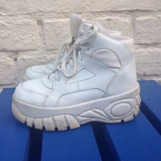 90s chunky white trainers/sneakers  spice girls by HellaCuteShit, £40.00