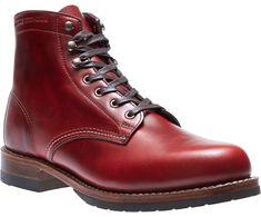 Evans 1000 Mile Boot, Red Leather