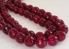 Red Pomegranate Faceted Round Agate Beads, 10mm,   Natural Gemstone Beads For Jewelry Making, Marsala Beads Pantone's color of the Year by BijiBijoux on Etsy https://www.etsy.com/listing/94131313/red-pomegranate-faceted-round-agate