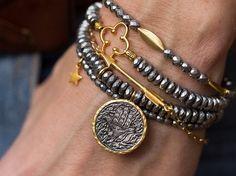 15% OFF Stack Bracelets Clover Bracelet by AlisonStorryJewelry