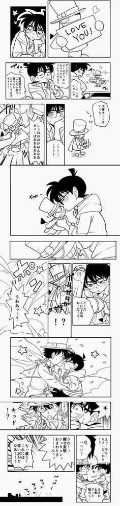 Conan x Kaito Kid = Cute Yaoi
