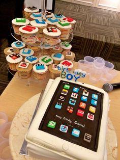 Ipad Cake and Cupcakes