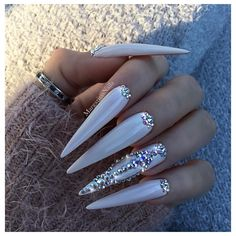 Brilliant Gel Nail Designs For Women Stiletto Nails Glitter, Aycrlic Nails, Sexy Nails, Dope Nails, Cute Acrylic Nails, Bling Nails, Nails 2016, Creative Nail Designs, Gel Nail Designs