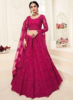 Pink Lehenga, Net Lehenga, Indian Lehenga, Lehenga Style, Lehenga Choli Online, Ghagra Choli, Bridal Lehenga Choli, Wedding Lehnga, Silk Dupatta