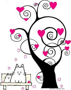 cartoons+about+love | Jinfenshijia_affixed_to_the_wall_art_cartoon_love_trees - High ...