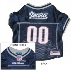 NFL New England Patriots Dog Jersey - Medium  Officially licensed New  England Patriots Jersey Medium. Made with polyester for easy machine  washing from our ... 06797a279