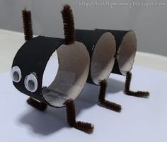 Today, EV and I worked on a 'ant' craft project using recycled toilet paper roll. I found this cute idea from Snails and Puppy Dog Tails . Ant Crafts, Mummy Crafts, Insect Crafts, Insect Art, Preschool Crafts, Toddler Crafts, Crafts For Kids, Ant Art, Toilet Roll Craft