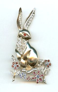 DuJay rabbit brooch