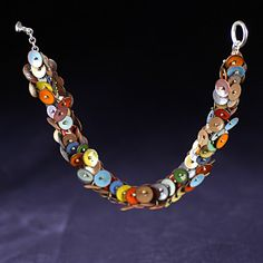 Millifiore Multicolored Enameled Bracelet by 2Roses on Etsy, $260.00